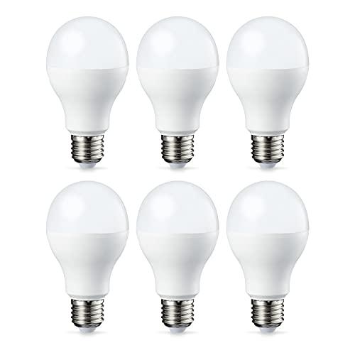 AmazonBasics E27 LED Lampe, 14W (ersetzt 100W), warmweiß, 6er-Pack