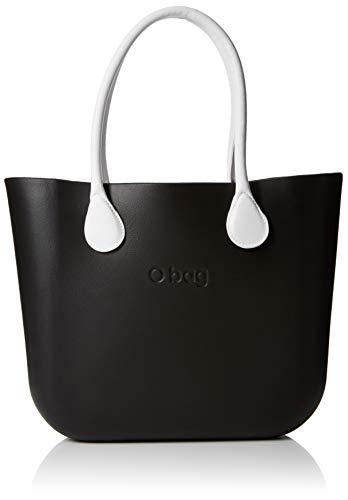 O bag B001_055 Zip, Borsa a Mano Donna, Nero, 14x31x39 cm (W x H x L)