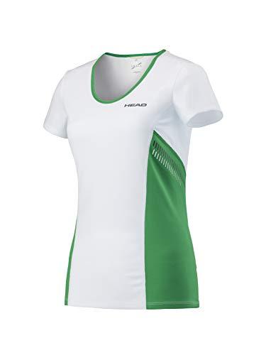 HEAD Damen, Club Technical T-Shirt, Grün Oberbekleidung, weiß, XS