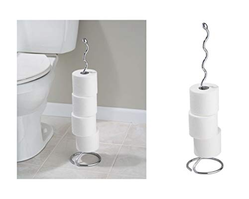 iDesign Orbinni Metal Toilet Tissue Roll Reserve for...