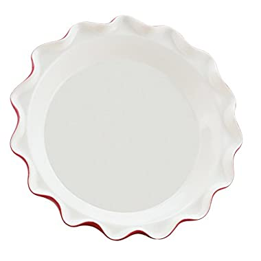 HIC Harold Import Co. Rose Levy Beranbaum's Rose's Perfect Pie Plate with Recipe Booklet