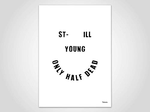 Still Young — Bilder, Poster, Kunstdruck, Deko, Kunst, Comic, Illustration, Sarkasmus, Smiley, Skandinavisch, minimlistisch, Freundschaft