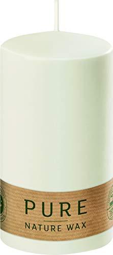 safe candle Pure Kerze selbstverlöschend, 4 Stück, umweltfreundlich (60% weniger CO₂, plastikfreie Verpackung), Höhe 13 cm/Ø 6 cm, 41 Std. (Natural)