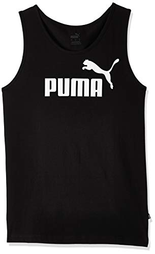 PUMA Essentials Tank Camiseta de Tirantes, Hombre, Negro (Cotton Black), M