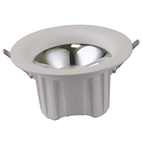 Mogicry 7/10/15/25W Plafonnier en Aluminium Blanc Downlight LED incorporé Anti-Vertigo Illumination du Panneau de Plafond Lumière Ronde Haute Rendu de Couleur Intégration de la décoration Encastré