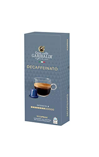 Gran Caffè Garibaldi Nespresso* compatible capsules (Decaf, 60 Count)