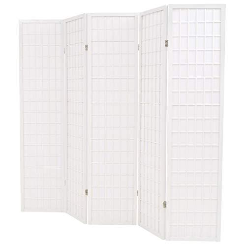 yorten 5 Paneles Biombo Plegable Estilo Japonés para Habitación Sala de Estar...