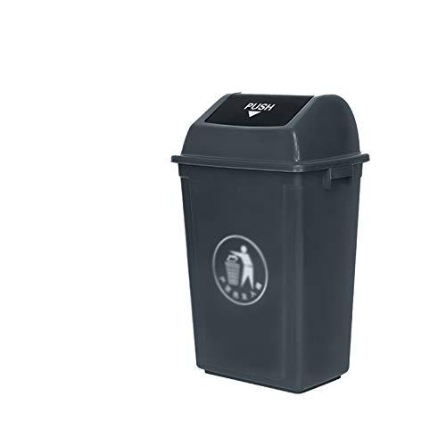 Outdoor trash can Chang-S-Q-123 Tapas De Residuos De Cocina, Basura De Reciclaje Delgada Oficina De Hoteles De Hoteles De Plástico con Cubierta De Basura Comercial, 60l(Size:60L,Color:A)
