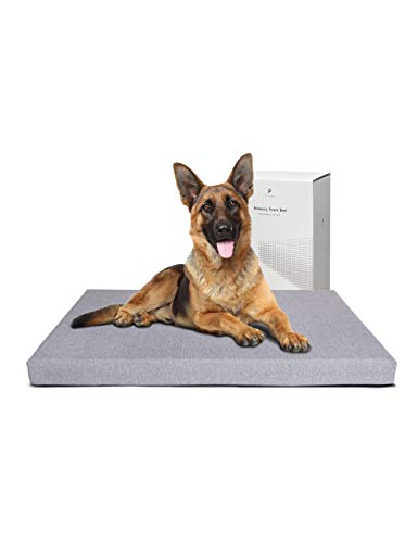 "PETLIBRO Dog Bed for Crate, Memory Foam Dog Crate Bed 41"" x 29"" Large Dog Bed Orthopedic Plush Mattress for Therapeutic Joint&Muscle Relief Removable&Washable Bed Cover with Waterproof Inner Lining"