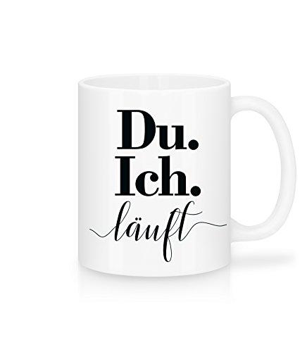 Shirtinator Geschenk Tasse mit Spruch I Du. Ich. Läuft I Geschenkidee-n Geburtstag Valentinstag Kaffee-Tassen Liebe Freundin