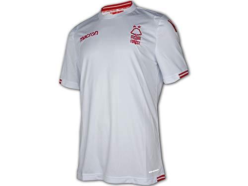 Macron Nottingham Forest Away Jersey 18/19 weiß Fußballtrikot Premier League, Größe:L