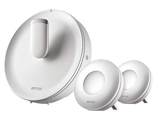 BUFFALO WiFi 無線LAN AirStation connect 親機+専用中継機2台セットモデル WTR-M2133HP/E2S 11ac ac2200 866+866+400Mbps トライバンド 独自メッシュ機能搭載 4K動画対応 4LDK 20台 【iPhone8/iPhoneX/iPhoneXS/Amazon Echo メーカー動作確認済み】