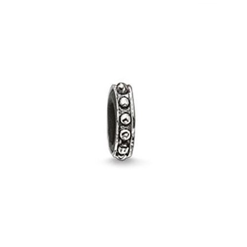 Thomas Sabo Damen Herren Stopper Kette Armband Karma Beads 925 Sterling Silber geschwärzt Silikon KS0006-585-12