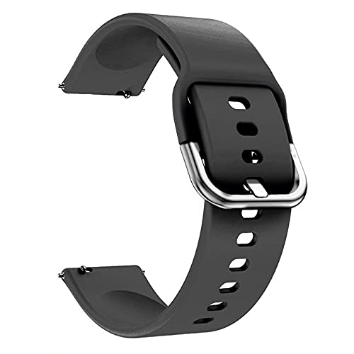 Pulseira Samsung Galaxy Watch Active 2 , 40mm , 44mm - Gear S2 Classic - Gear Sport R600 - Galaxy Watch 42mm - Amazfit Bip - 20mm (Preta)