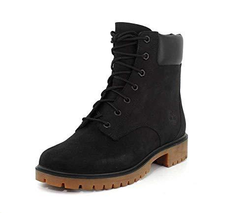 Timberland Womens Jayne 6-Inch Waterproof Black Nubuck Boot - 9.5 M