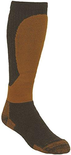 Alaska Super Heavyweight Socken aus Merinowolle, Herren, Alaska, Socken, Ke-802-x-large, schwarz/orange, X-Large
