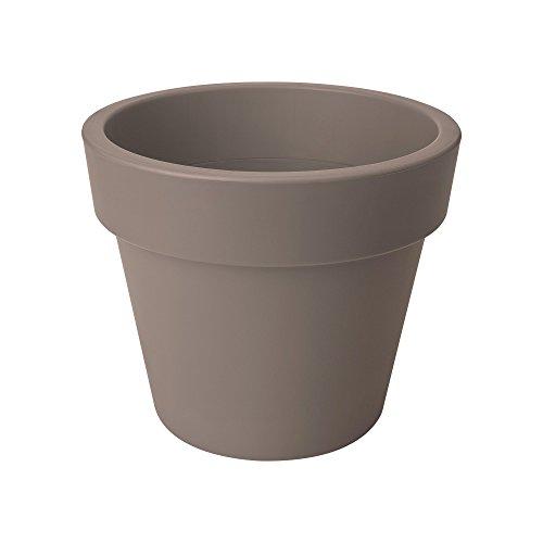Elho Green Basics Top Planter 30 - bloempot - levendig zwart - buiten bloempot 23 cm taupe