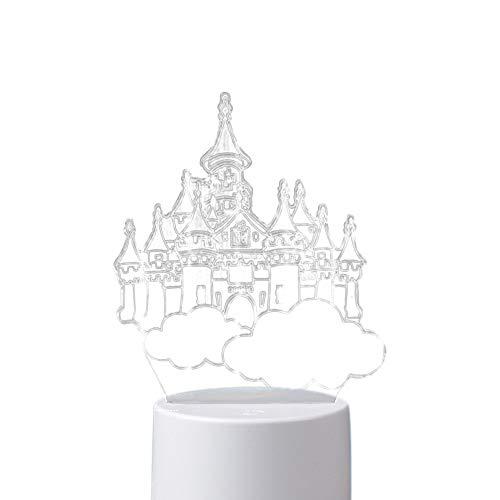 Hniunew Kreatives Nachtlicht USB Acryl Licht Tischlampe Dekoration WarmweißE Lampe Geschenk Lichter Led Nachtlampe Nachtlichter FüR Babyzimmer, Schlafzimmer, WohnräUme
