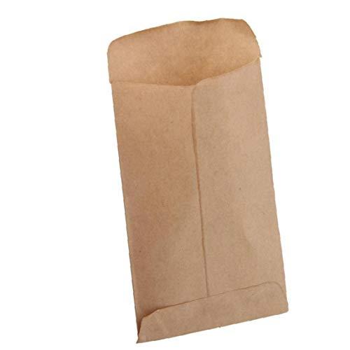 100 Pcs Brown Kraft Envoltura De Bolsas De Semillas De Protección Embalaje Bolsas Del Estilo Del Sobre De Semillas Vertical Aislamiento Bolsas Opción Ideal Y Práctica