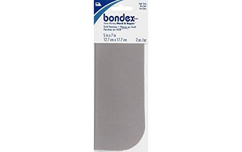 Bondex Iron-On Patches 5x7' 2/Pkg.-Light Grey