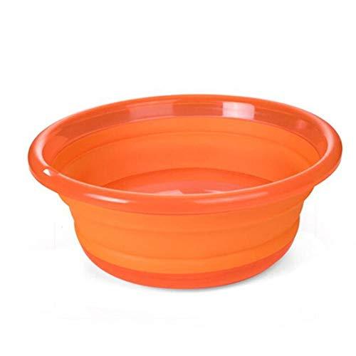 Assiavree Lavabo Plegable Cuenca de almacenaje Plegable de la Fruta Lavabo Cocina Organizador de Picnic Viaje Cubo Lavabo portátil de Agua de la Taza Pila-orangel Palangana Plegable (Color : Oranges)