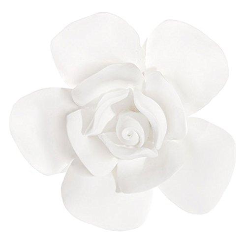 ShiShi Porzellanblume Blüte aus Bisquitporzellan Rose oder Kirschblüte zum Befestigen an Zweigen Durchmesser: 10,5 cm