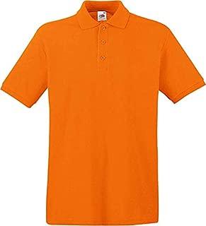 Fruit Of The Loom Polos For Men, Orange M