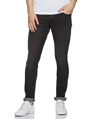 Wrangler Men's Skinny Fit Jeans (W38477W22SMU_Jsw-Black_34W x 33L)