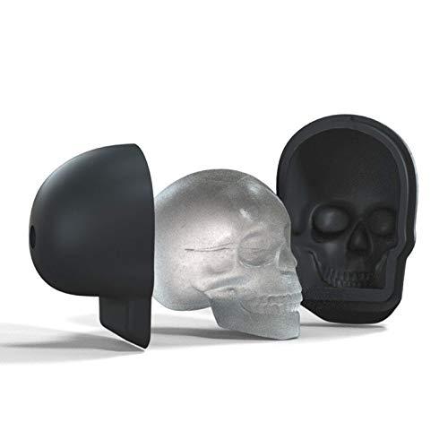 HNQH 3D Skull Ice Mould, Silikon Ice Cube Mold Tray Lustige Skull Ice Maker für Whisky, Bourbon, Cocktails, Bier, Saftleck Free Bpa Free
