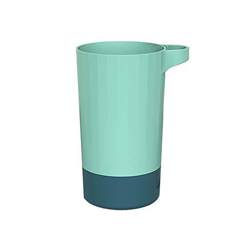 XVXFZEG Sencillo de dos colores Diseño plástico del cepillo de dientes y enjuague bucal Copa Copa, Pareja Estilo Hogar Baño Cepillo de dientes y enjuague bucal Copa, Copa Set 400 ml de agua de gran ca