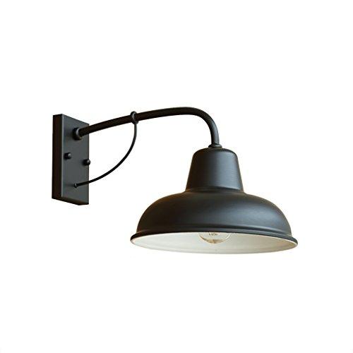 LIZHIQIANG Waterdichte wandlamp ijzeren wijnoogst nostalgische Amerikaanse eenvoudige binnen- en buitendeurverlichting buiten waterdichte balkon tuinverlichting