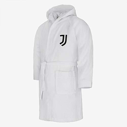 JUVE Juventus Accappatoio in Microspugna - Personalizzabile sul Dorso - 100% Originale - 100% Prodotto Ufficiale - Bambino - Scegli la Taglia (Taglia 12/14A)