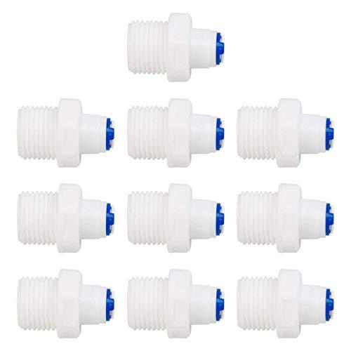 1/2' BSP maschio a 1/4' OD dritto a connessione rapida purificatori d'acqua raccorderia raccordi tubi da spingere nel connettore di tubo RO per sistema di osmosi inversa RO