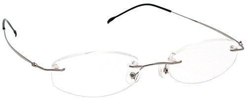 ESCHENBACH 老眼鏡 シニアグラス ラウンドタイプ +2.0度 日本製 シルバー 2994-1120