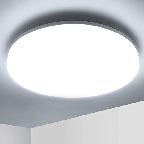 Ketom Lámpara de Techo LED 36W, lámpara de techo luz blanca 6500K Plafón de Techo Redonda Equivalente a la lámpara de 120W, Moderna LED Plafón Para Dormitorio Baño Cocina, Sala de Estar
