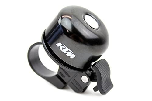 KTM Fahrrad Klingel, Fahrrad Glocke \'Alloy Bell Black Screwed\' Schwarz mit Logo-Print