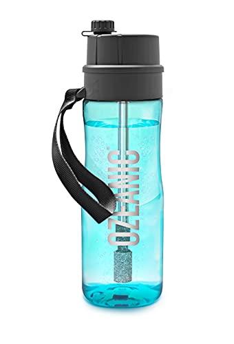 Ozeanic EcoBottle Botella Purificadora de agua Portátil y Reutilizable Elimina virus y bacterias Sin filtro Ozonizador de agua Generador de ozono, Botella de Agua Deporte 750 ml