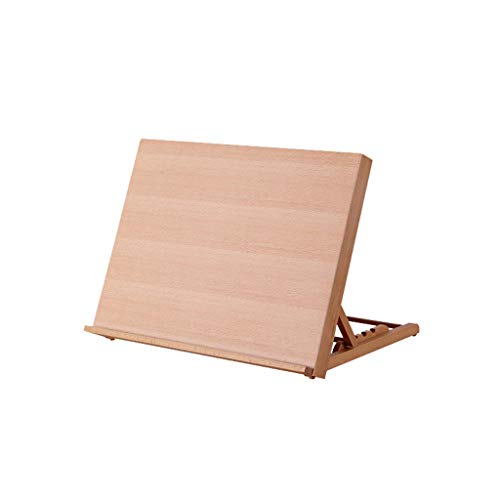 Staffelsezel 4K klaptafel, desktop volwassenen houten kleine olie, schets, kleine boekenkast, houtkleur
