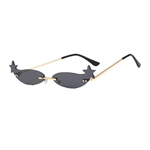 NUOBESTY Gafas de Sol Gafas en Forma de Estrella Gafas de Pentagrama Favores de Fiesta de Plástico Accesorios de Cosplay de Fotos Gris