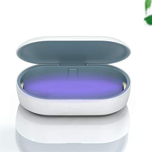 UV-Box Kabellos Aufladen Desinfektionsbox Multifunktion Tragbar Sterilisation iPhone Schaue Samsung White