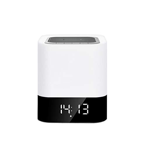 Combo lumière créative Bluetooth Nuit, avec Fonction de l'heure, Effet de Son 3D Surround stéréo, utilisé pour Le Cadeau d'anniversaire de décoration pour la Maison (Blanc)