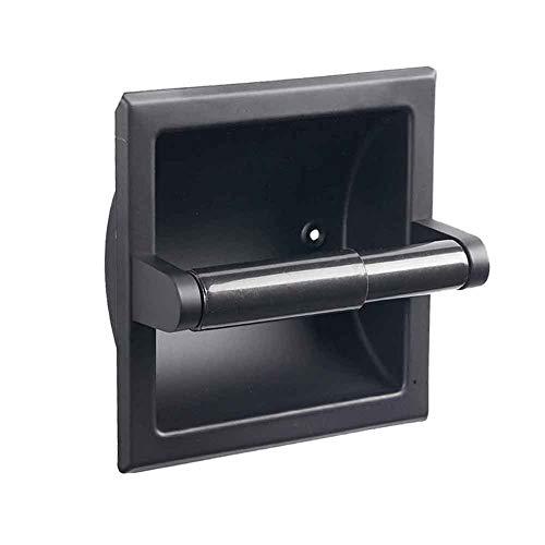 SQER Einbau-Toilettenpapierhalter, 304 StainlessSteel Zeitgemäßer Gewebehalter im Hotelstil mit Installationszubehör, Wandeinbau-Badezimmerzubehör Toilettenpapierhalter