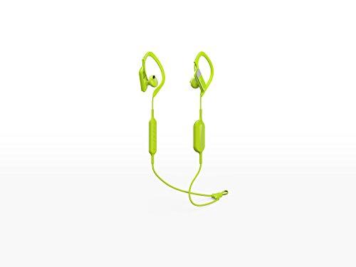 Panasonic Bluetooth In-Ear Kopfhörer RP-BTS10E-Y in gelb (wasserabweisend, Schnellladefunktion, flexible Ohrbügel, Mikrofon)
