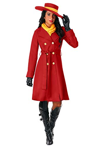 Carmen Sandiego Costume for Women Red Trenchcoat Costume for Adults Medium