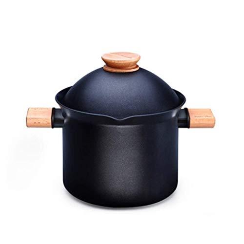 Soupe Pot Casserole antiadhésive, Grande capacité, Soupe Maison Cocotte Pot Ramen série cuisinière à Induction Batterie de Cuisine (Compatible)