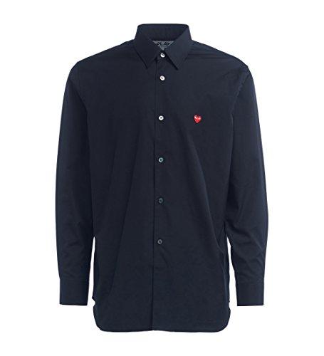 Camisa Comme Des Garcons Play de Color Negro
