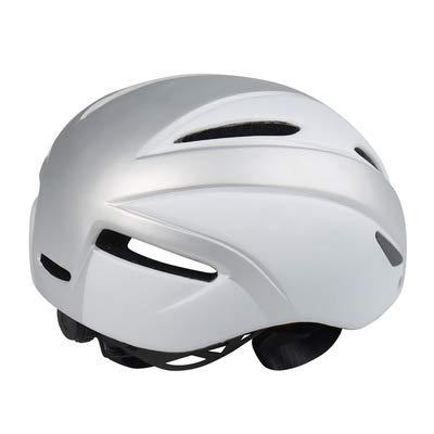 Casque de vélo hommes, Vélo magnétique lunettes casque de montagne route d'une pièce casque d'équitation, couleur, Silver-L(57-61cm)