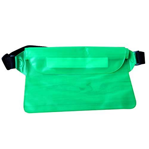 tyrrdtrd Sac banane imperméable en PVC de grande capacité pour sports natation plage Vert