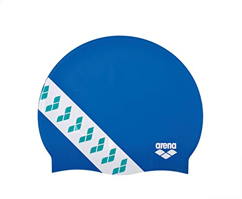 Arena Team Stripe cap, Cuffia da Gara con Bande Unisex Adulto, Blu (Royal), Taglia Unica