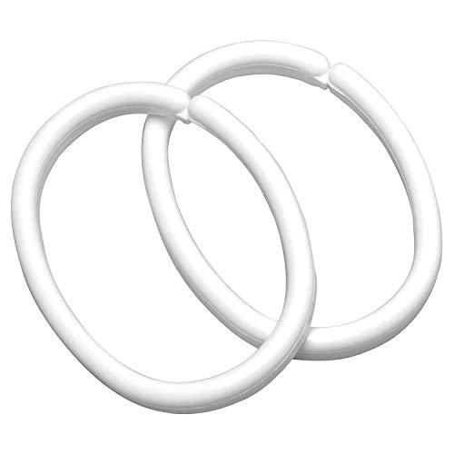Sealskin Duschvorhangringe, weiß, 12 Stück